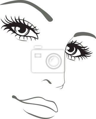 Logo Visage Femme Dessin Prêt à Taux Zéro