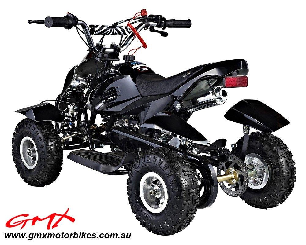 gmx 49cc mini atv quad bikes black off road pinterest. Black Bedroom Furniture Sets. Home Design Ideas