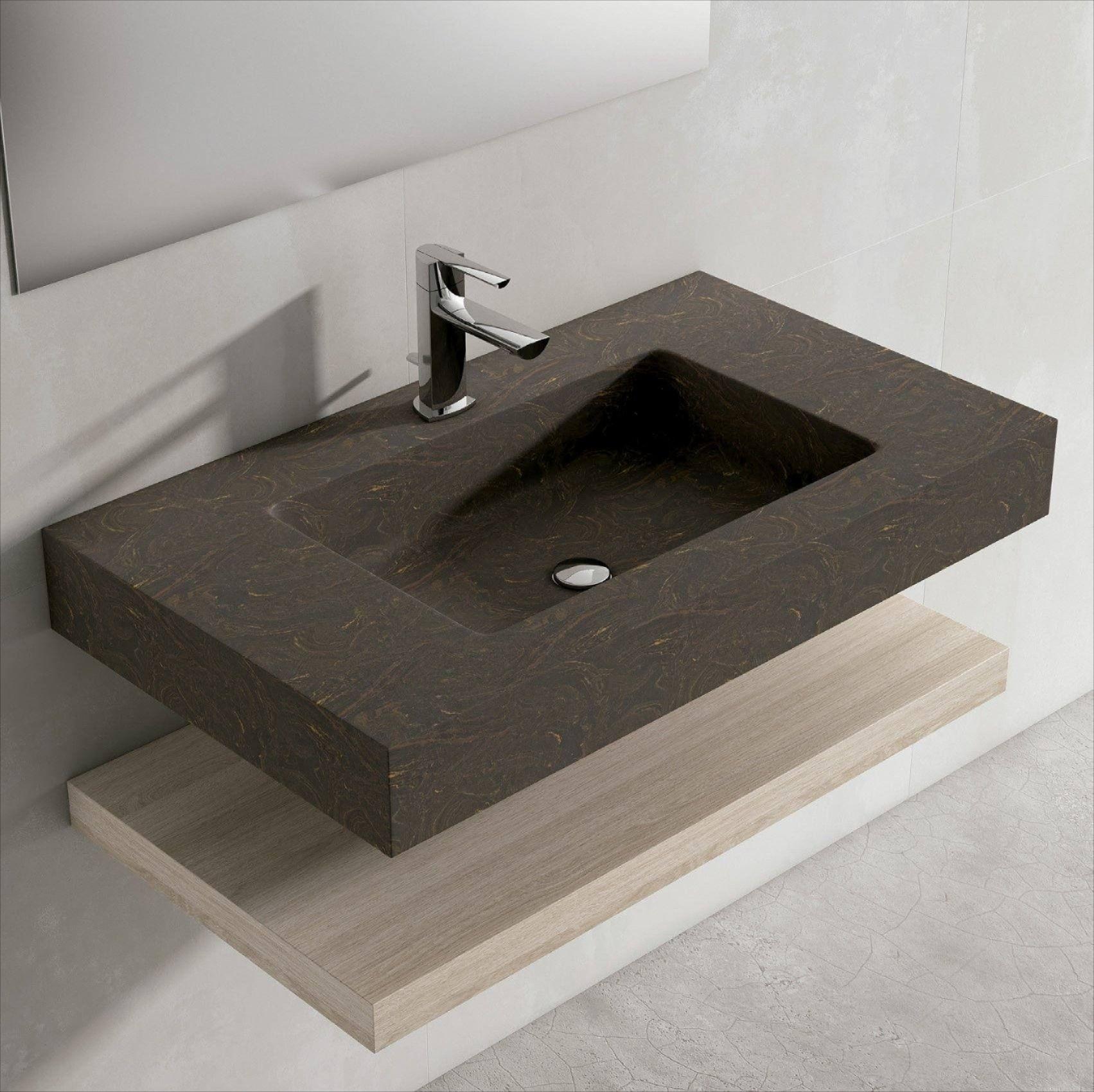 Lavabo de Viso Bath sobre encimera Piedra ...