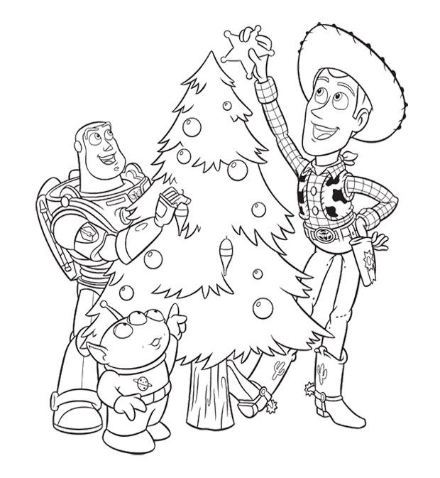 Toy story christmas coloring page coloring pages for for Free printable coloring pages toy story 3