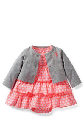Carters  2-Piece Dress and Cardigan Set