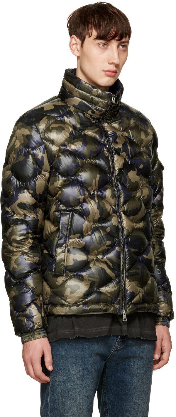 Moncler - Green Camo Down Morandieres Jacket