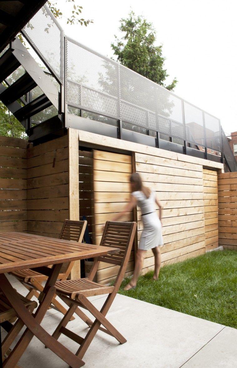 Maison Contemporaine Appareil Architecture Deck Designs Backyard Outdoor Stairs Patio Stain