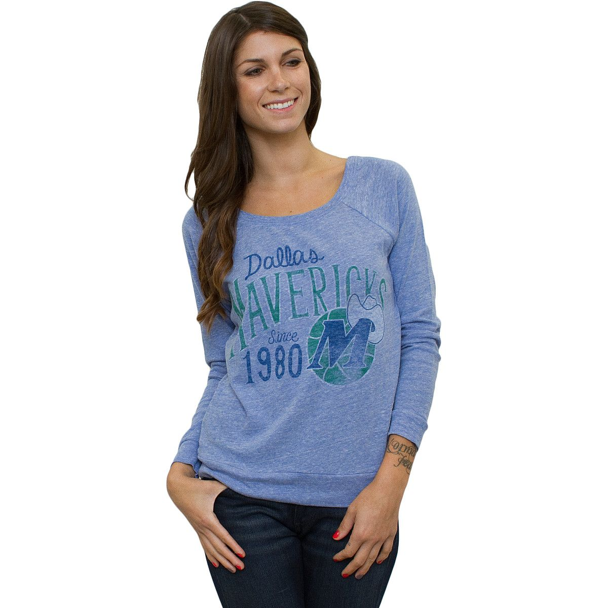 c685fe3e0dda Junk Food Dallas Mavericks Womens Triblend Long Sleeve T-Shirt -  NBAStore.com~ for Les