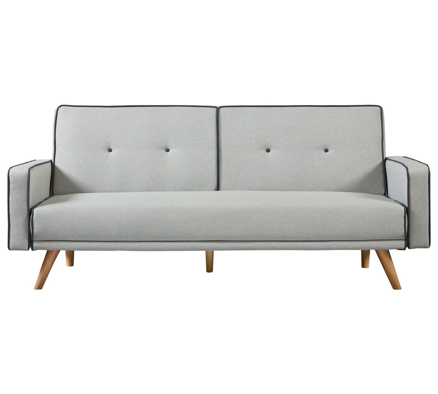 Buy Argos Home Frankie 2 Seater Clic Clac Sofa Bed Grey