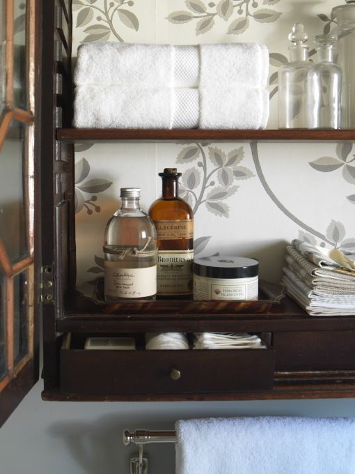 Suzie: Margot Austin   Glass Front Lattice Medicine Cabinet With Back Of Medicine  Cabinet