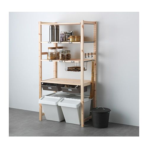 A Japanese Inspired Apartment With Plenty Storage Systems: IVAR, 1 Section Unit W/shelves & Drawers, Untreated