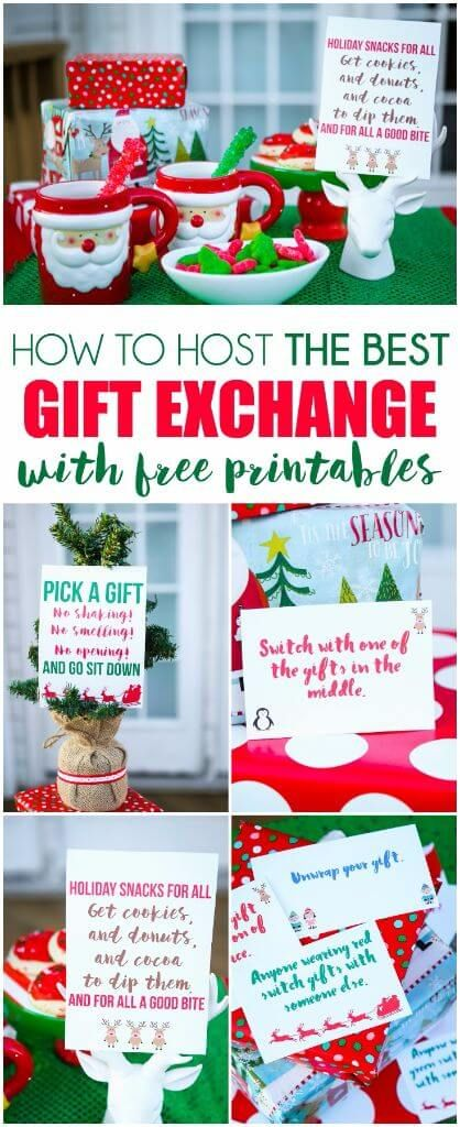 Everything from fun gift exchange themes to printable gift exchange games.  I love the DIY gifts theme, that would be a perfect way to swap Christmas  ... - Seven Great Tips For Hosting The Best Gift Exchange! Everything From