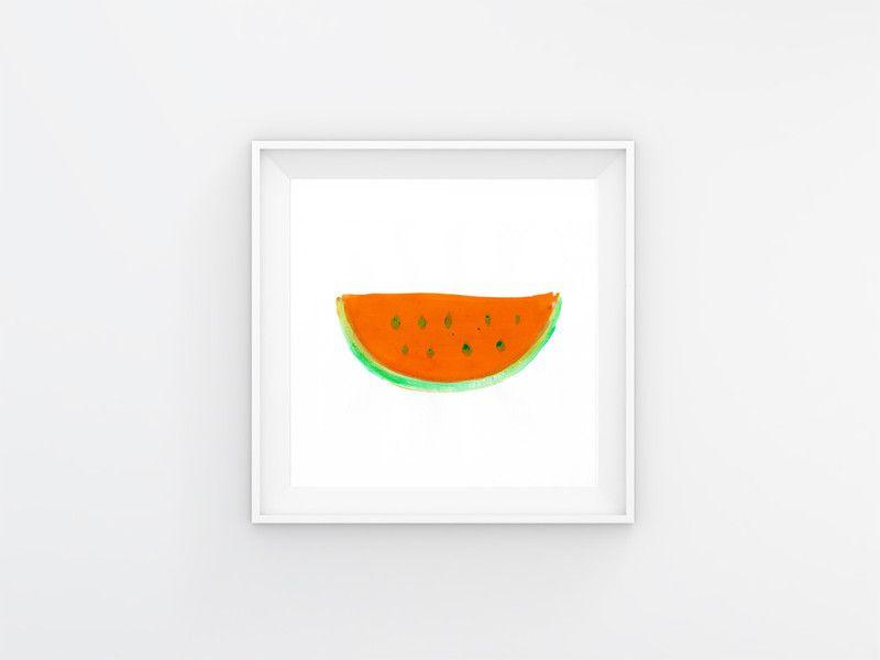 """Digitaldruck - Artprint """"Melone"""" - ein Designerstück von designkind_de bei DaWanda"""