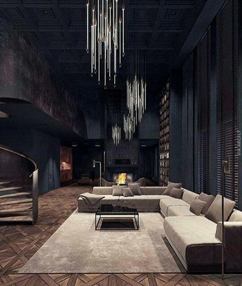 Dark interio spces Gothic interior, Modern house design