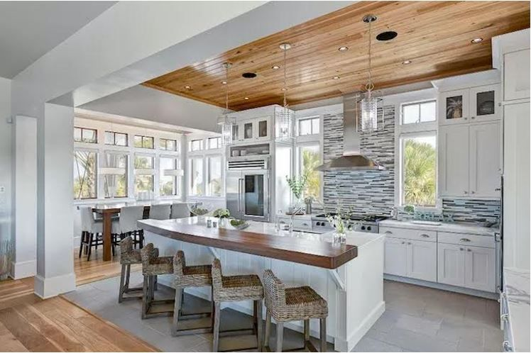 Pin By Bwg On Kitchen Beach House Kitchens Home