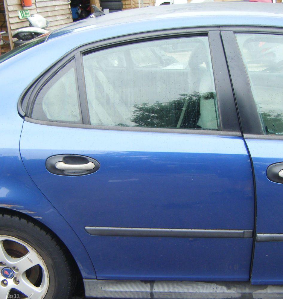 Saab 9 3 93 2003 2007 driver rear door cosmic blue 264