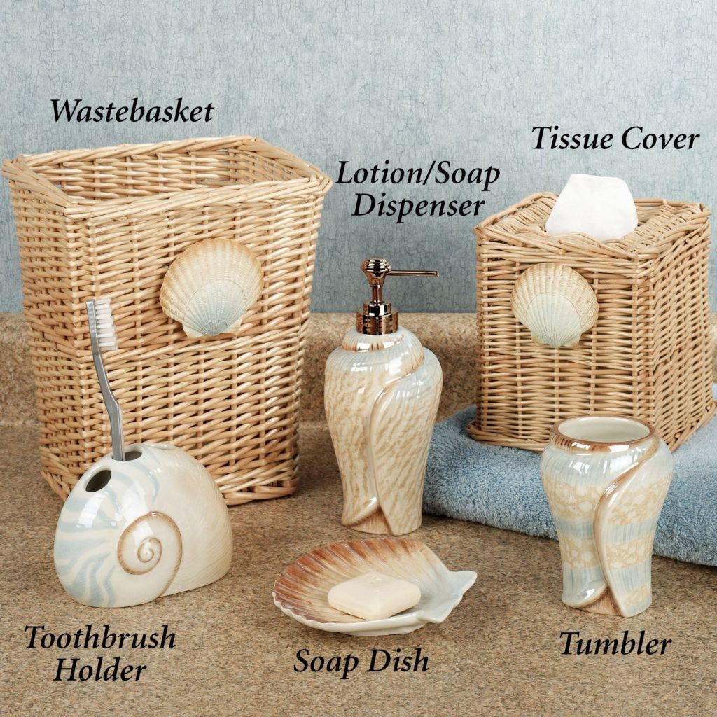 Charmant Seashell Bathroom Accessories
