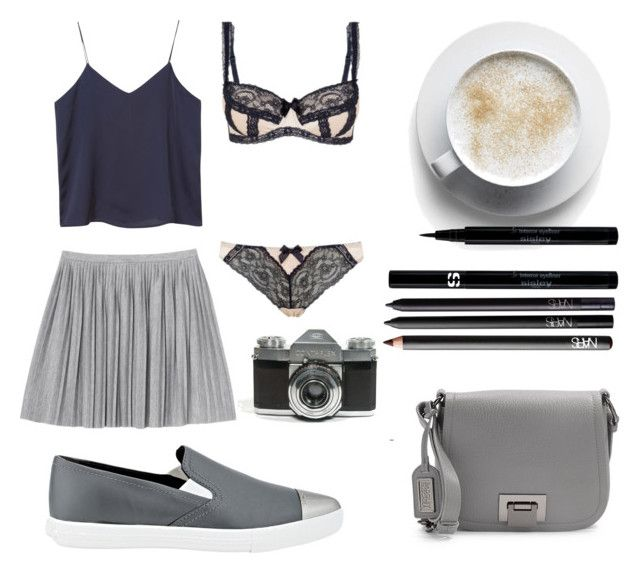 """Sans titre #3516"" by crazymoustik ❤ liked on Polyvore featuring Monki, Badgley Mischka, Sisley, NARS Cosmetics and Miu Miu"