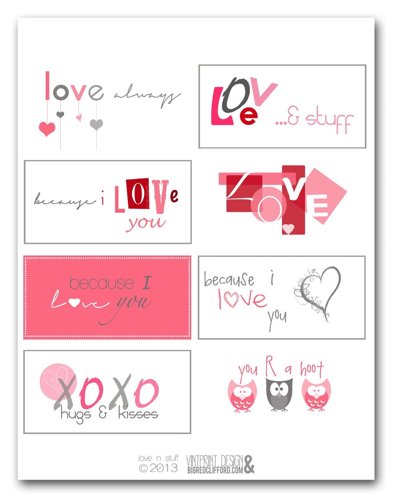 valentine freebies printables bigredclifford.com (With ...