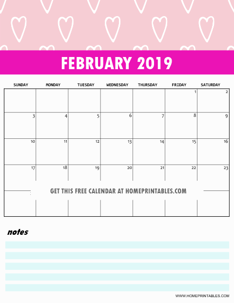 free 2019 monthly calendar printable cute and colorful printables