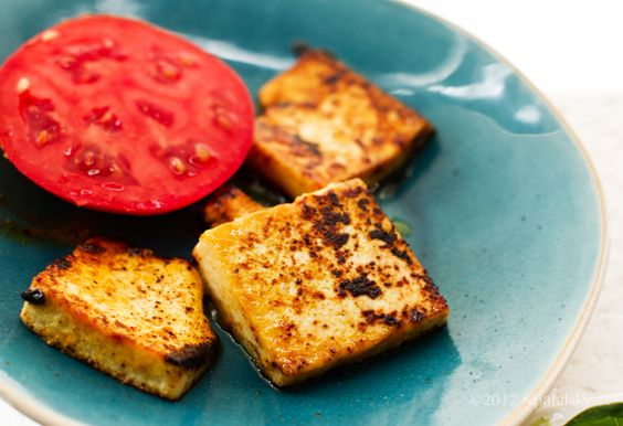 "Tomato Tofu ""Feta"" Open-Face Sandwich - Healthy. Happy. Life."