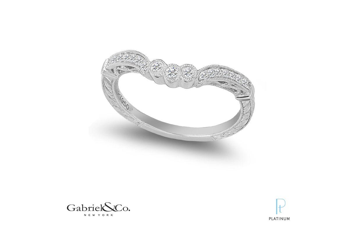 Gabriel Platinum Wedding Band PLatinumjewelry.com