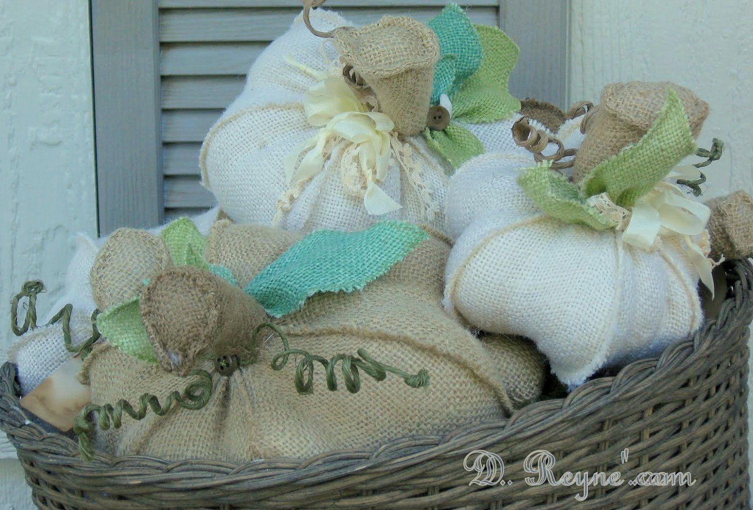 small burlap pumpkin. $9.95, via Etsy.