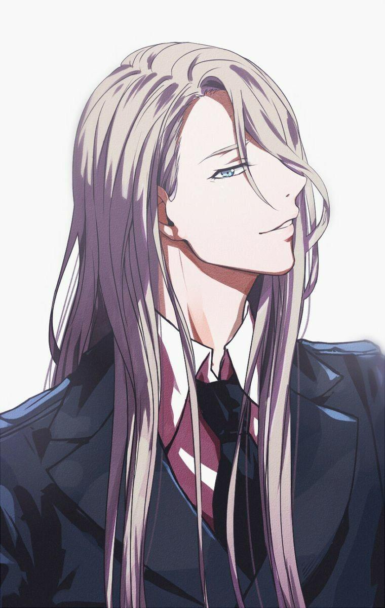 Viktor Nikiforov Long Hair Suit Cool Outfit Yuri On Ice Yuri On Ice Anime Boy Hair Anime Guys