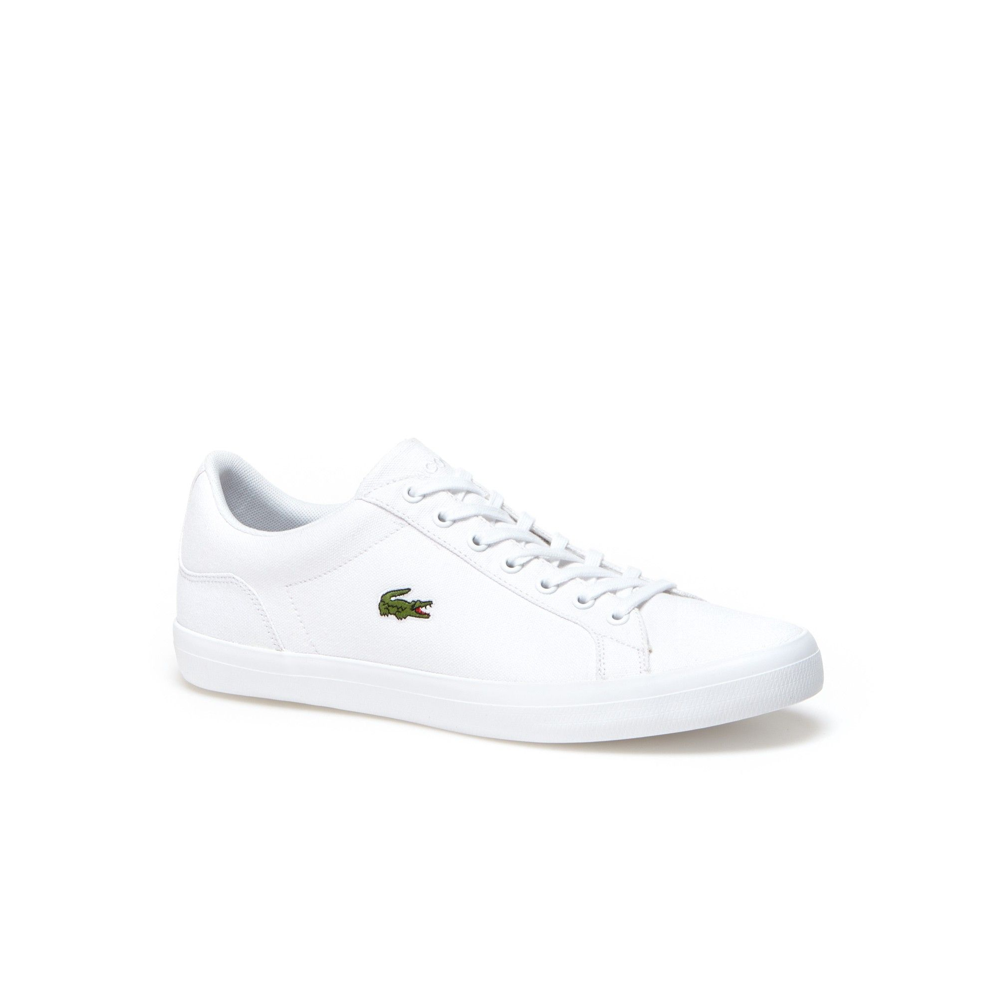 58f1ccd6e92ea7 LACOSTE Men s Lerond Canvas Sneakers - white.  lacoste  shoes ...