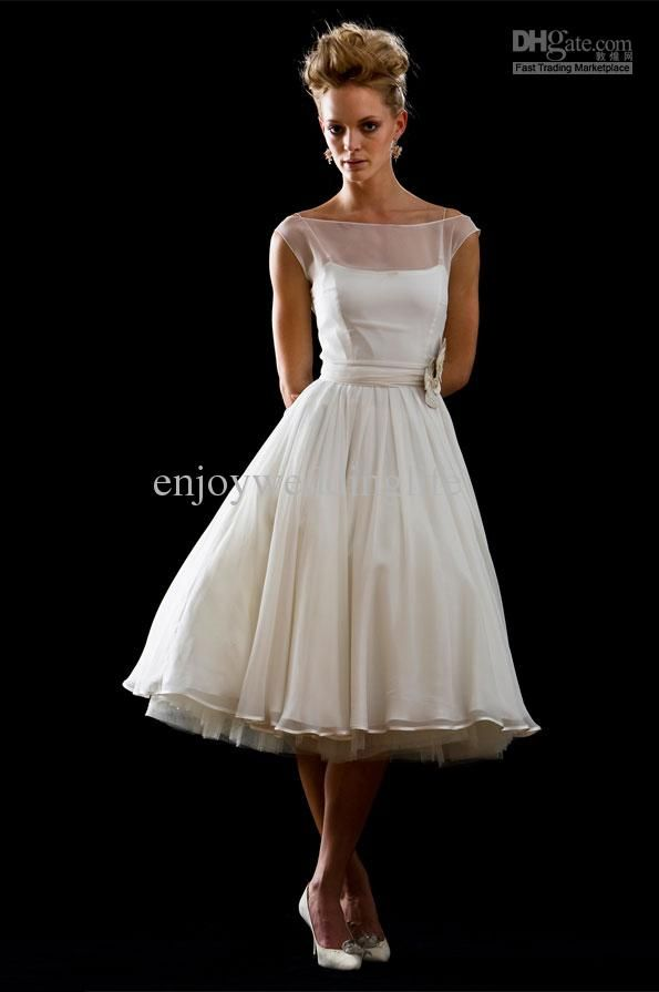 Retro Tea Length Dress Love This So Understated And Elegant It Would Even Make A Beautiful Wedding I Definitely Wear As