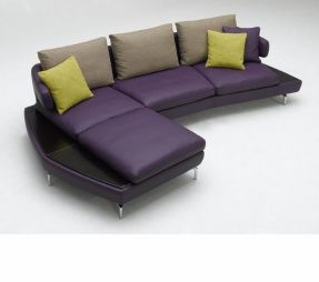 Purple Leather Sectional Foter Modern Sofa Sectional Leather