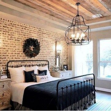 Bedrooms Design Ideas With Brick Walls