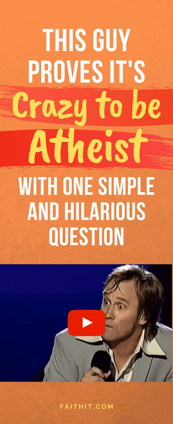 Christian comedian Brad Stine pokes fun at one of the most widely heard defenses against belief in God... and totally kills it! #Christian #belief #beliefinGod #Christians #comedian #atheist #Jesus #JesusChrist
