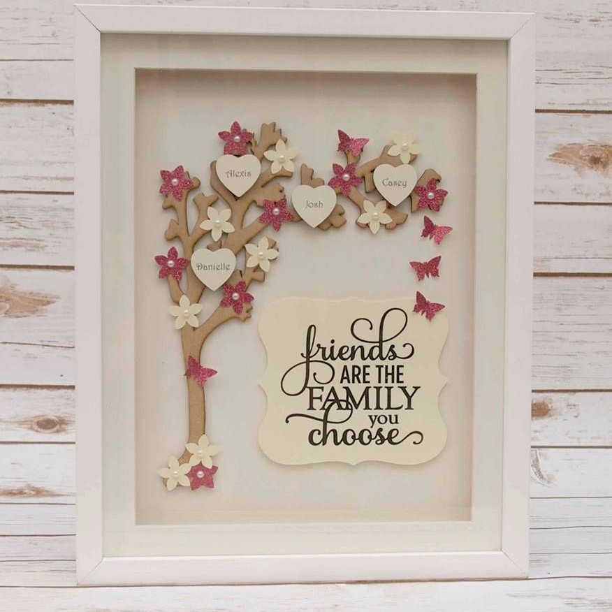 Friendship Quotes For Picture Frames : Wooden biscuit set friendship beautiful and flower