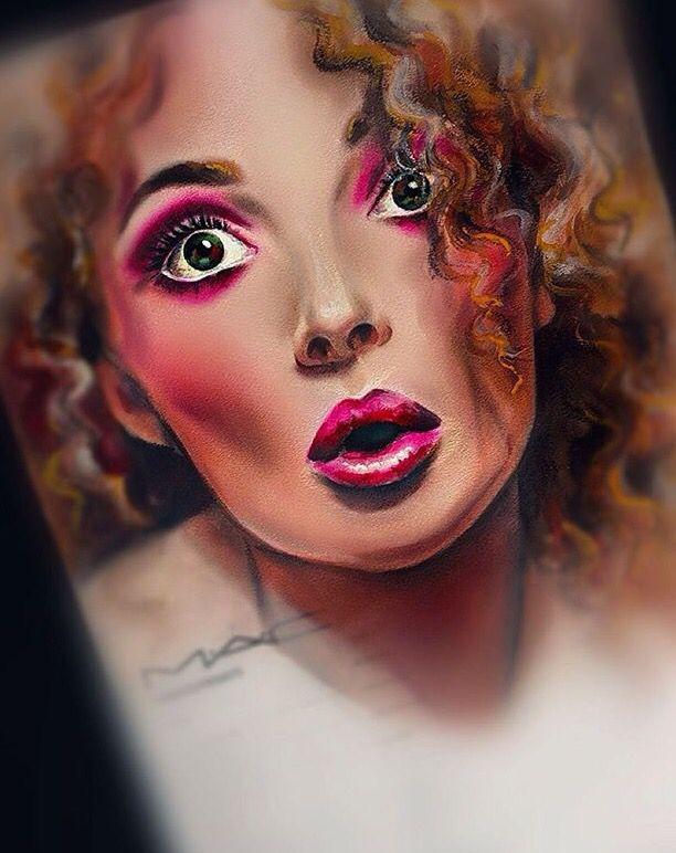 Face chart is art, intense blush. 60s glam. #mac #facechart ...