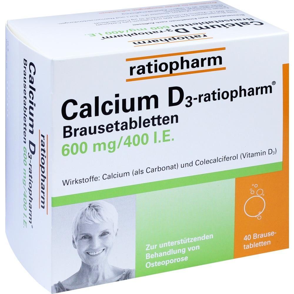 CALCIUM D3 ratiopharm Brausetabletten:   Packungsinhalt: 40 St Brausetabletten PZN: 03659745 Hersteller: ratiopharm GmbH Preis: 5,64 EUR…