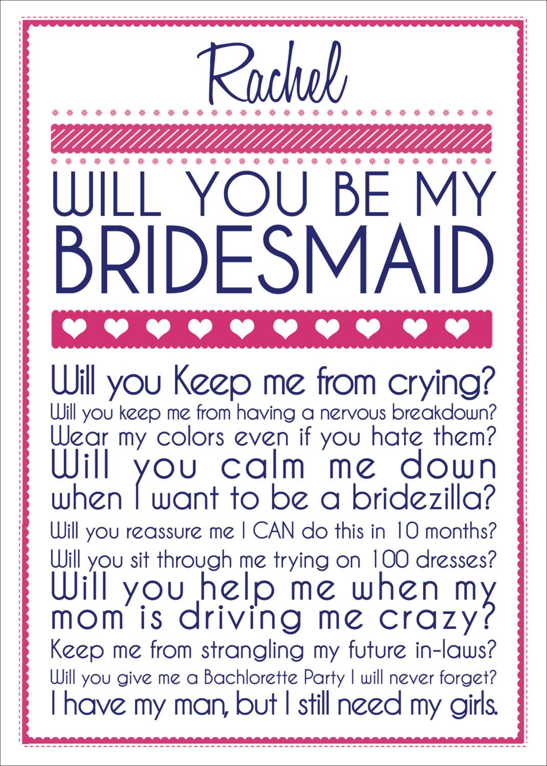 will you be my bridesmaid cards etsy