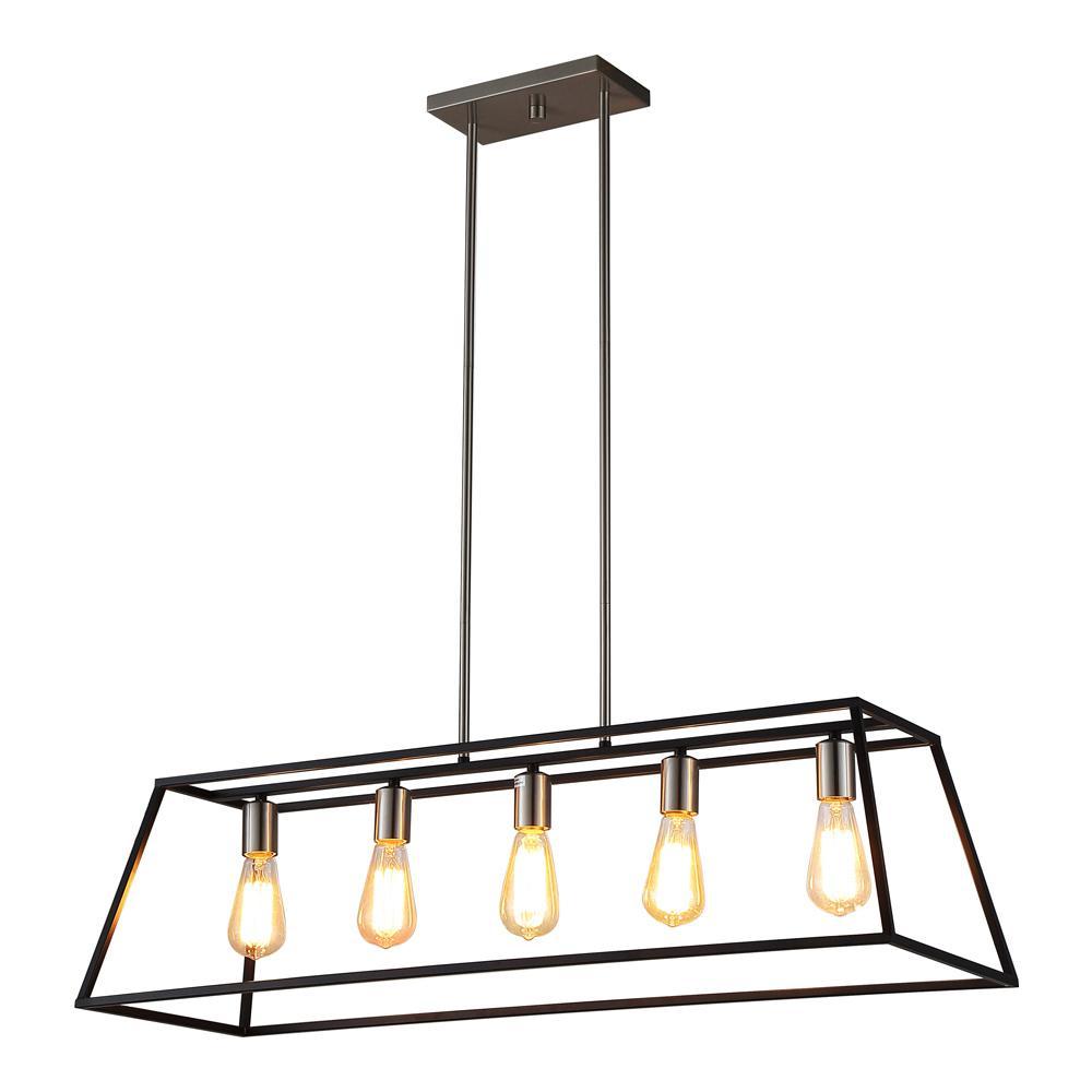 Home Depot Pendant Lights For Kitchen Ove Decors 5Light Black Pendant  Lights Room And Kitchens