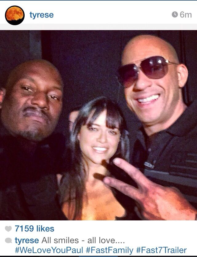 Tyrese, Michelle & Vin- Furious 7