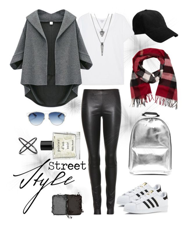 """""""Layered Necklace"""" by lavune on Polyvore featuring adidas, rag & bone, Christian Dior, The Row, Splendid, Miller Harris, Burberry, NARS Cosmetics and layerednecklace"""
