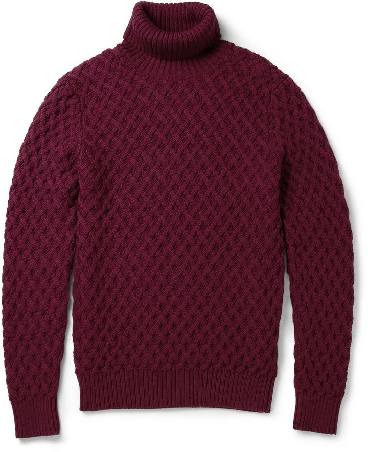 6c3a572a608 Etro Cable-Knit Rollneck Wool Sweater, Knitted with thick, soft wool ...