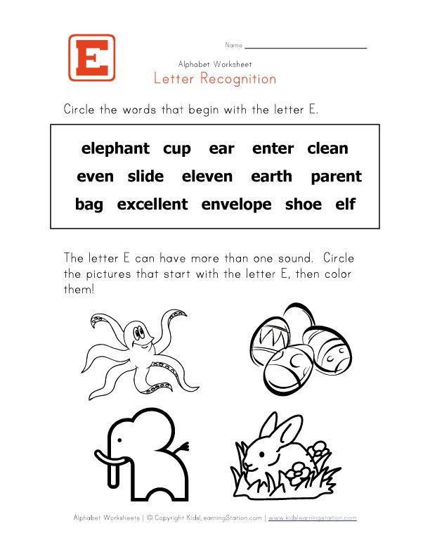 day3 activity1 | Letter E&F | Pinterest