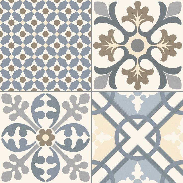 Imitation en grès cérame de carreaux ciment Cementine color - Terre ...