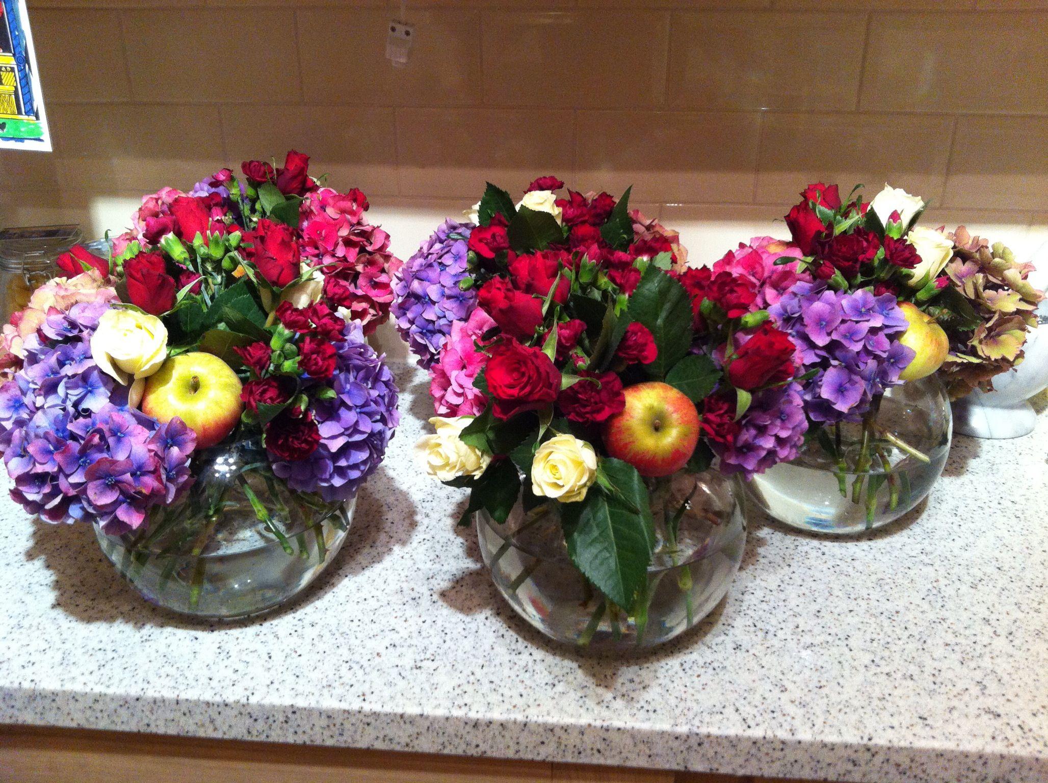 Ruby Wedding Flower Arrangements