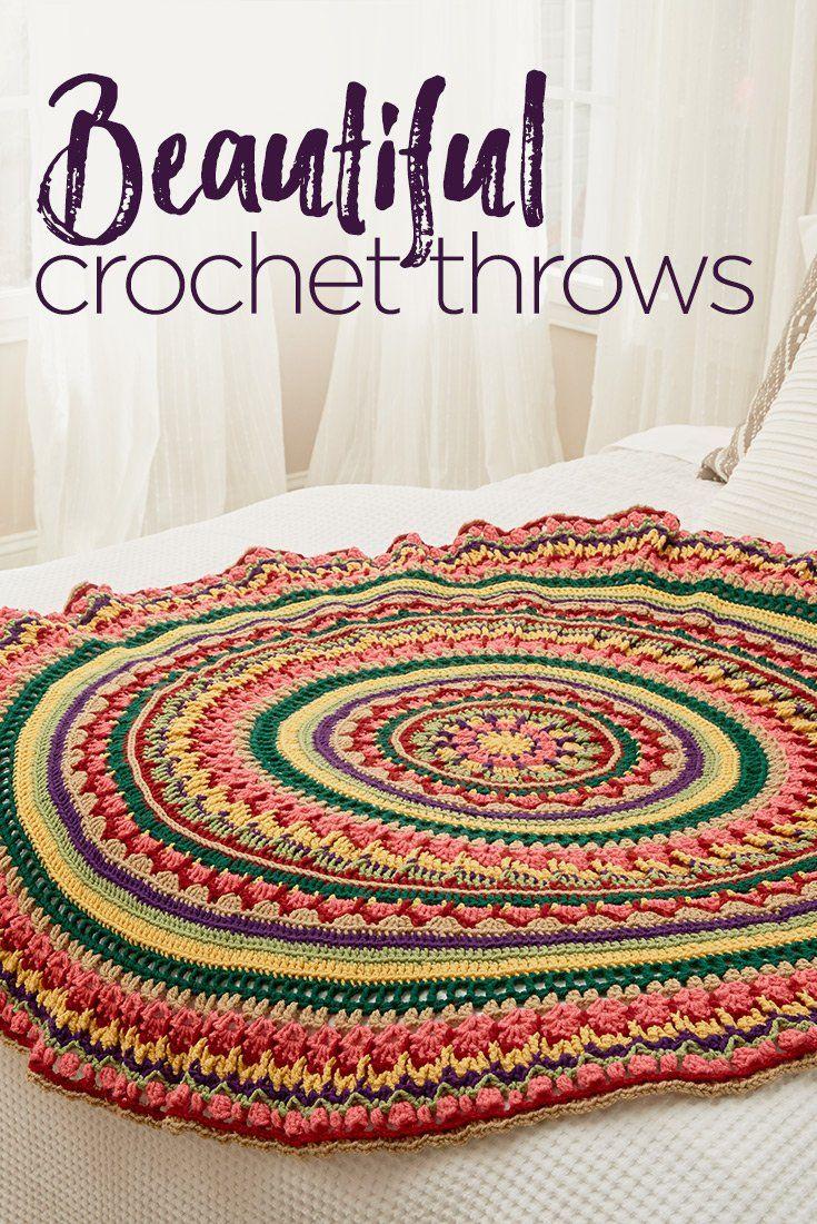 Beautiful Crochet Throws | 12 Free Crochet Throw Patterns | crochet ...