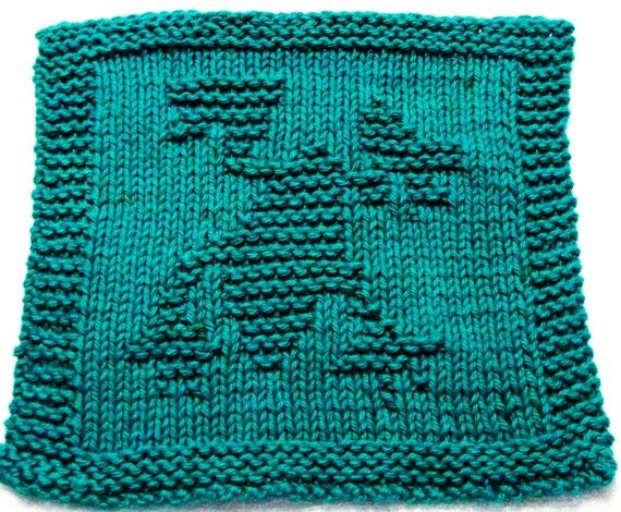 Knitting Cloth Pattern - FROG - PDF | Dishcloth knitting ...