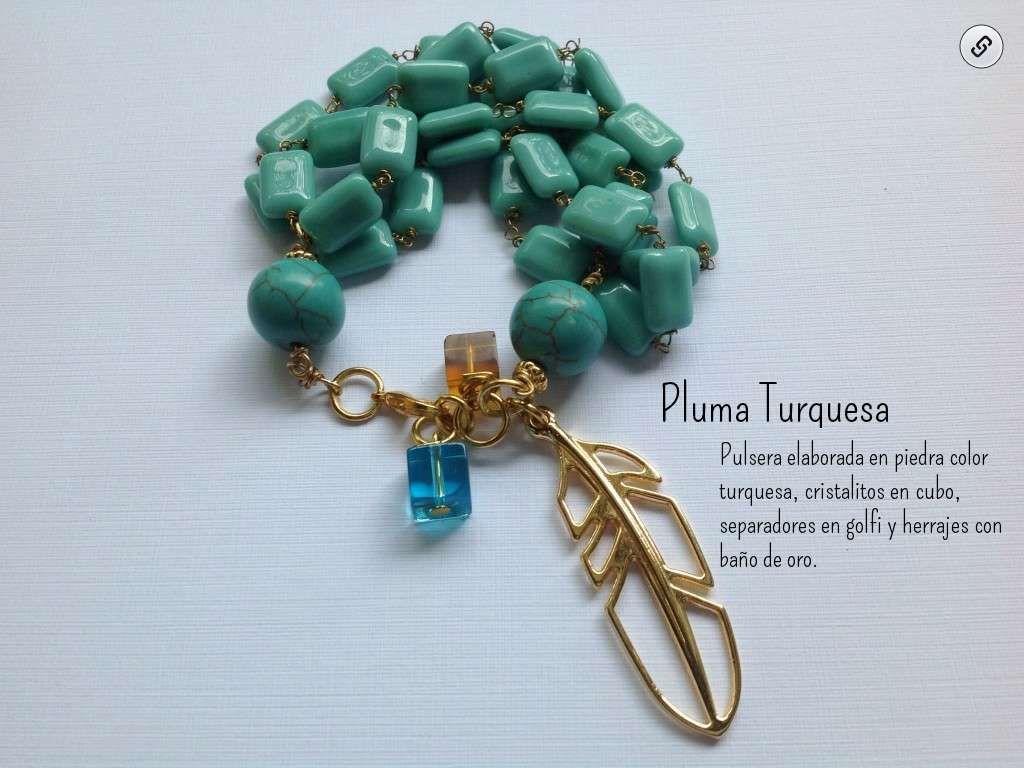 Pulsera Pluma Turquesa - Created on Tactilize