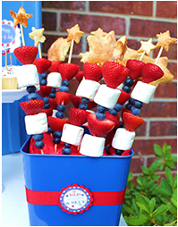 Love these Fruit Skewers...going to do some for Memorial Day