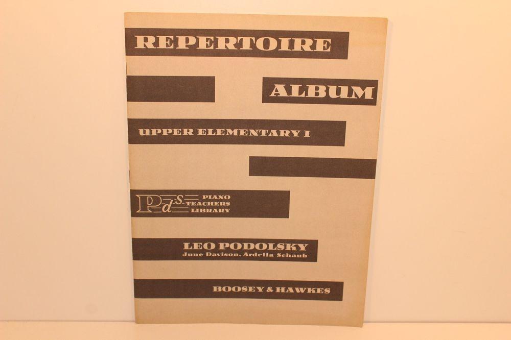 Leo Podolosky upper elementary I # 1 Piano Teachers Library Sheet Music