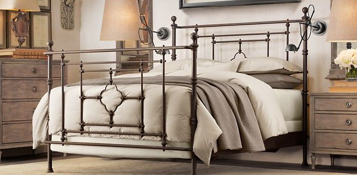 Quatrefoil Iron Bed From Restoration Hardware. I Would Love To  Replace/upgrade Our Guest Bedroom With This.