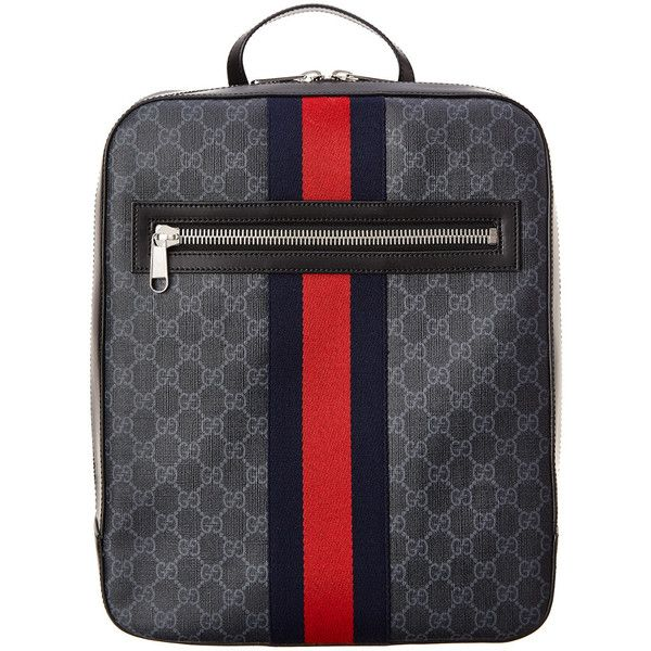 668f837b8 Gucci Gg Supreme Canvas Backpack ($1,350) ❤ liked on Polyvore featuring  men's fashion, men's bags, men's backpacks, nocolor, gucci mens backpack  and mens ...