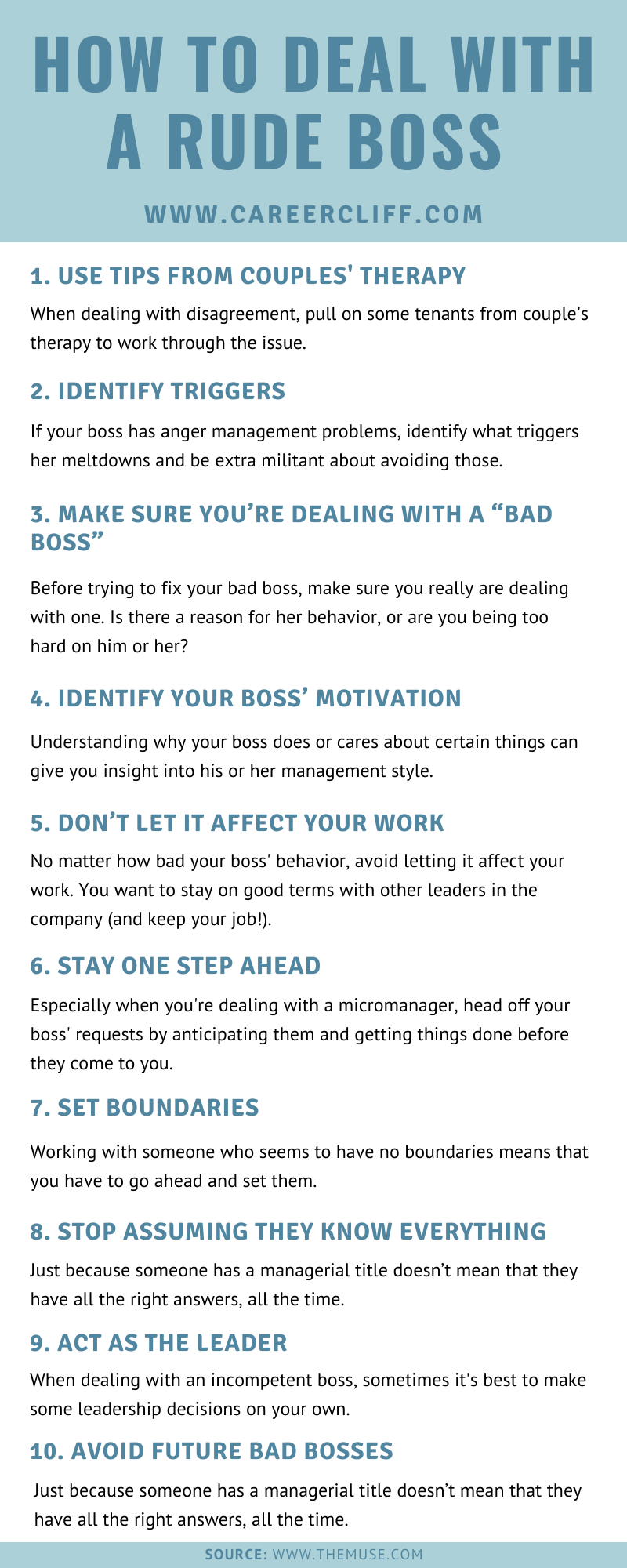 how to deal with a rude boss