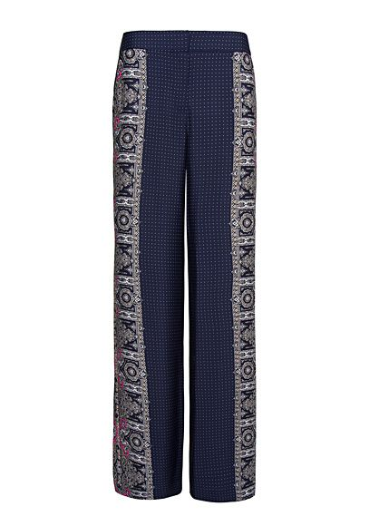 Photo of Contrasted printed palazzo trousers – Woman | Mango Albania