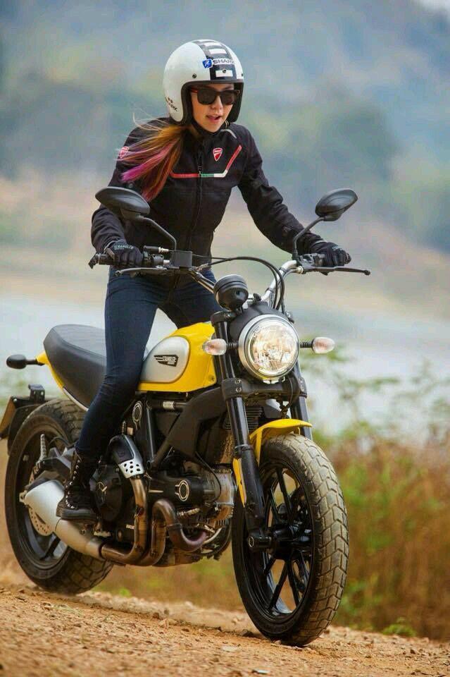 Pin By Ed J On Women Ride Ducati Scrambler Ducati Yamaha Bikes